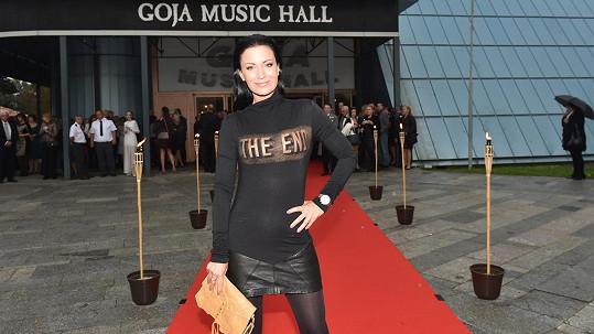 Gábina Partyšová na premiéře muzikálu Fantom opery