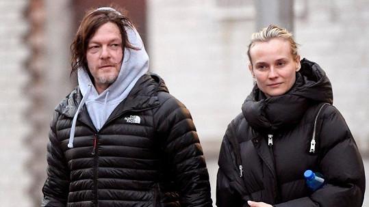 Diane Kruger a Norman Reedus pozornost příliš nevyhledávají.
