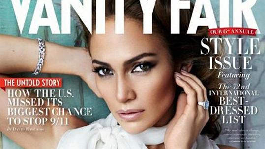 Jennifer Lopez na obálce časopisu Vanity Fair.