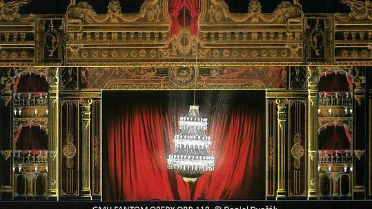 Obří lustr bude vévodit scéně Fantoma opery.