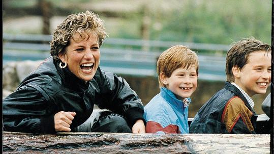 Lady Diana se syny Harrym a Williamem