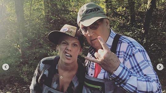 Pink s otcem Jimem
