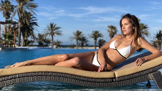 Andrea Bezděková se opalovala v Tunisku