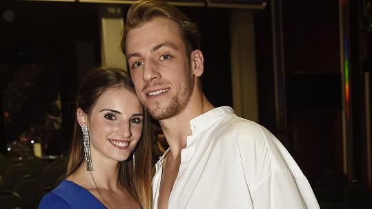 Martin Prágr s přítelkyní