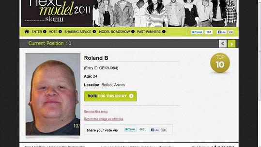 Roland Bunce na webové stránce soutěže o britského modela.