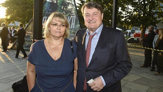 Ladislav Štaidl s novou partnerkou