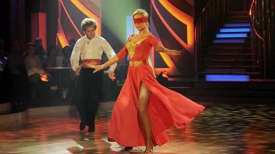 Taťána Kuchařová tančila poslepu.