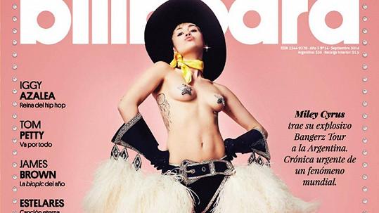 Miley Cyrus na zářijové obálce magazínu Billboard
