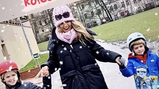 Lucie Vondráčková se pochlubila vánoční fotkou