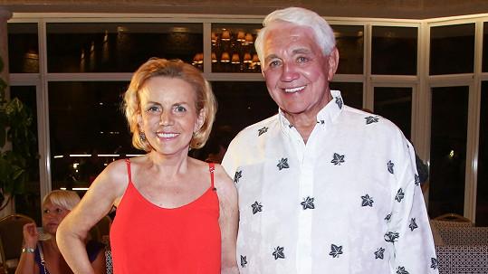 Hana s manželem Jiřím Krampolem