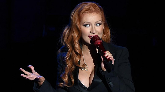 Christina Aguilera na koncertě pro Hillary Clinton