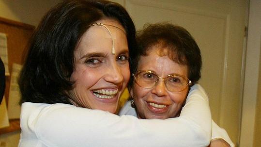 Lucie Bílá s maminkou.