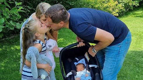 Iveta Vítová s rodinkou
