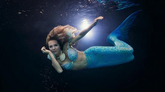 Lucie Vondráčková jako mořská panna