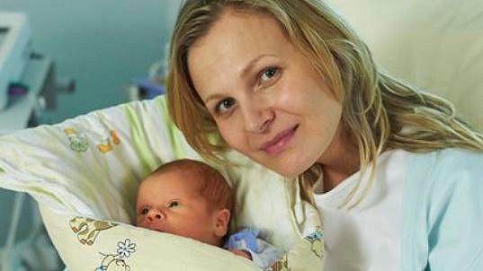 Michaela Badinková se svým seriálovým synem