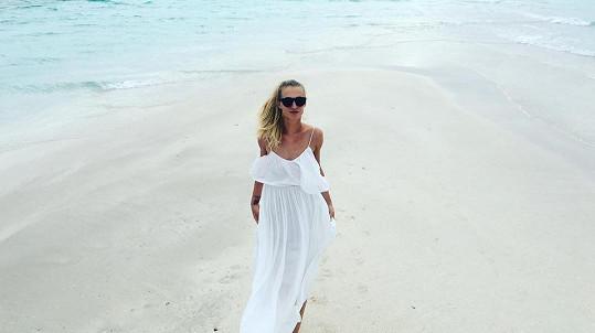 Veronika Kašáková na Maledivách