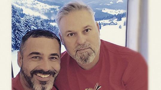 Libor Šula (vlevo) s přítelem Peterem