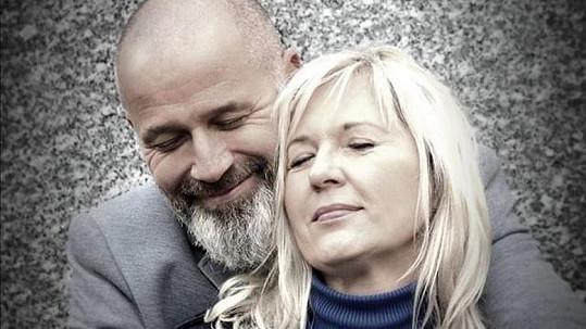Jan Musil s bývalou manželkou