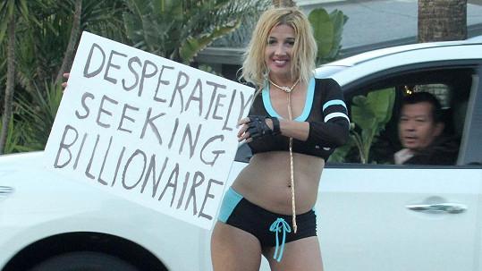 Nadeea Volianova se svým netradičním lákadlem na miliardáře...