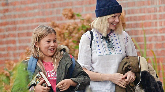 Michell Williams s dcerou Matildou