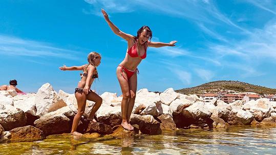 Heidi Janků si užívala dovolenou v Chorvatsku.