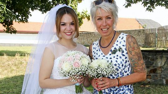 Marcela Březinová se svou dcerou