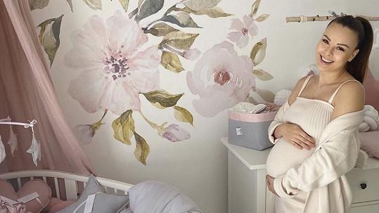 Monika Bagárová se pochlubila pokojíčkem pro miminko.