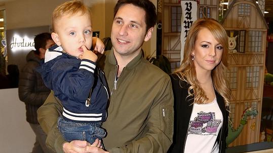 Martin Písařík s rodinou