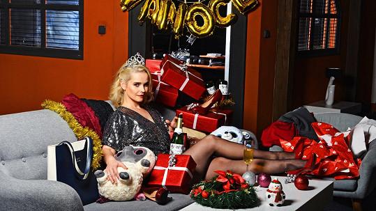 Kristýna Kociánová na vánočním snímku