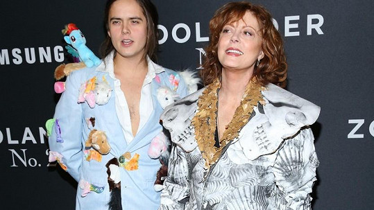 Susan Sarandon se synem na premiéře Zoolandera 2