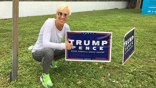 Zuzana Belohorcová by volila Trumpa.