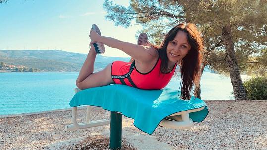 Heidi Janků už cvičení pověsila na hřebíček.