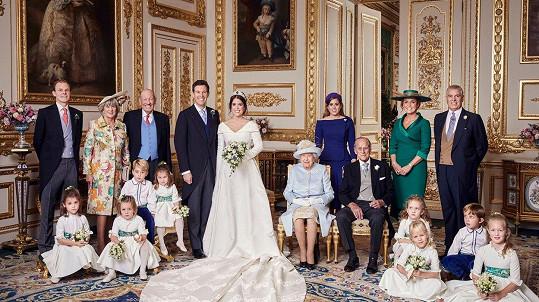 Oficiální svatební snímky princezny Eugenie