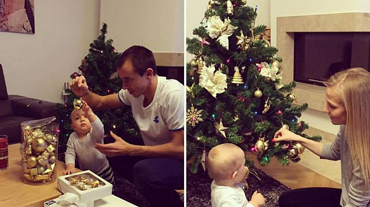 Míša Ochotská s rodinkou o Vánocích