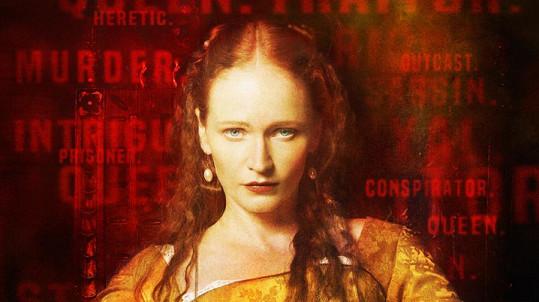 Alžběta I. na fotografii podle filmovém plakátu