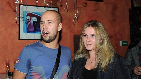 František Soukup s přítelkyní Kristýnou.