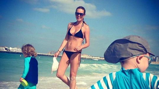 Simona Krainová na dovolené v Dubaji