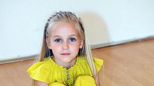 Amélie Pokorná je nádherná holčička.