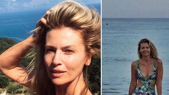 Daniela Peštová vystavila tvář bez make-upu a dokonalé tělo v plavkách.
