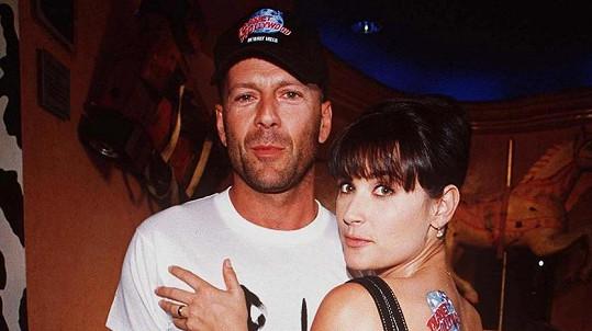 Demi Moore a Bruce Willis jsou i po letech dobrými přáteli.