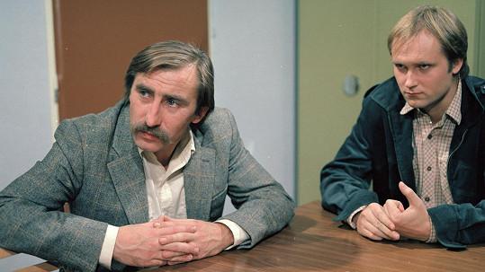 Pavel Zedníček a Michal Pešek v seriálu Malý pitaval z velkého města