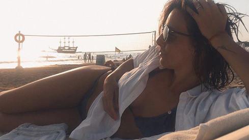 Veronika Arichteva odpočívá na dovolené v Turecku.