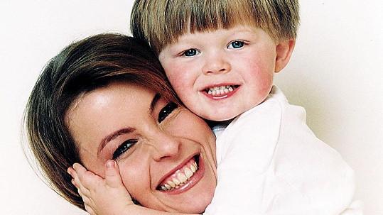 Iveta Bartošová se synem Arturem