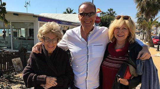 Štefan Margita s mámou Editou a Hankou Zagorovou