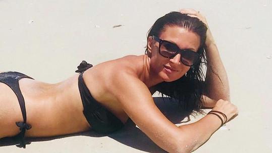 Gábina Partyšová si dovolenou užívá na Floridě.
