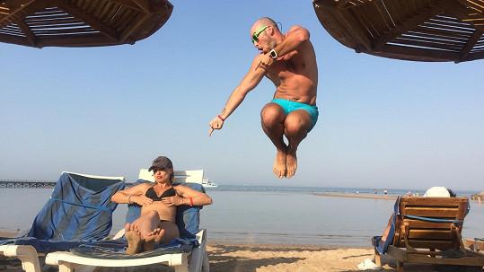 Charlotte Doubravová a Přemysl Pálek na dovolené v Egyptě