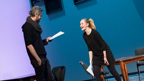 Monika Absolonová s Romanem Zachem na prknech divadla Studio DVA