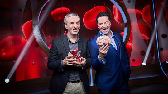 Martin Dejdar a Petr Vacek v pořadu Tajemství těla