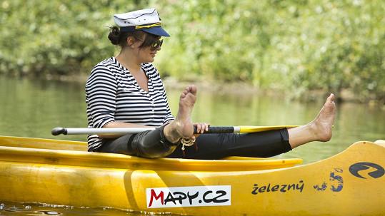 Jitka Čvančarová sjížděla řeku poprvé a akci si užila.