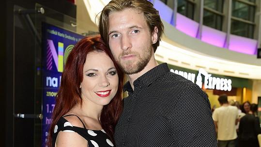 Míša Nosková s manželem Ondřejem Báborem